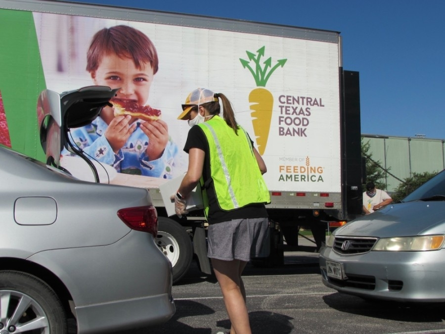 The Central Texas Food Bank will host a food distribution event in Kyle on May 30. (Nicholas Cicale/Community Impact Newspaper)