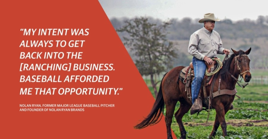 Legendary baseball player Nolan Ryan has long enjoyed ranching. Now, he and his team are preparing to open a butcher shop in Round Rock to showcase Goodstock, Nolan Ryan Beef and other Texas-made products. (Photo courtesy Nolan Ryan)