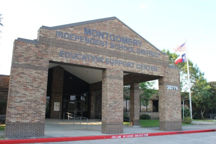 The Montgomery ISD board of trustees met June 16. (Eva Vigh/Community Impact Newspaper)