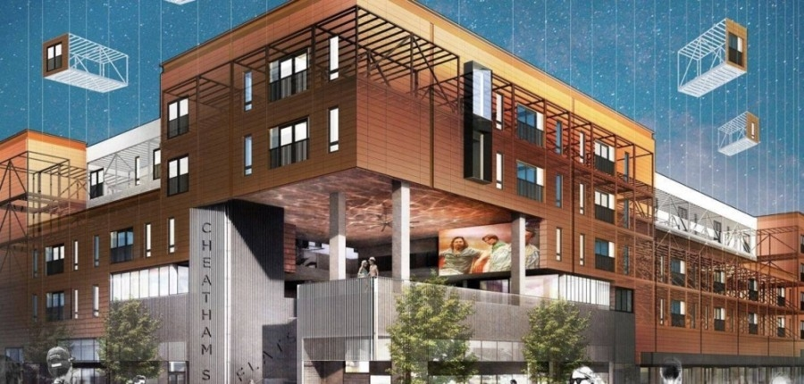 The new apartment complex is located at 401 S. Guadalupe St., San Marcos. (Courtesy Cheatham Street Flats)