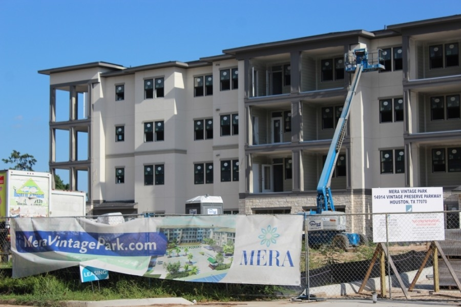 Construction is underway on Mera Vintage Park, an 8-acre, age-restricted residential community located at 14914 Vintage Preserve Parkway, Houston. (Adriana Rezal/Community Impact Newspaper)