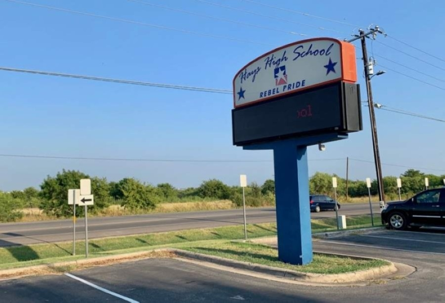 The Hays CISD board of trustees could vote to change the Rebel mascot at Hays High School as early as late July. (Community Impact Newspaper staff)
