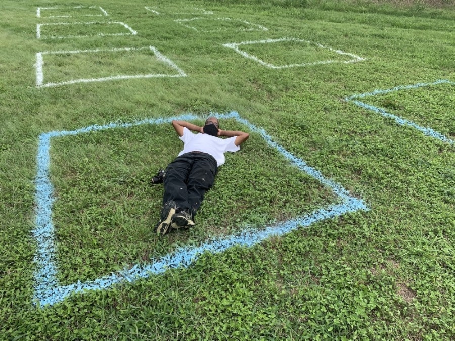 A new art installation called Parkspace was installed in Austin parks before the Fourth of July weekend. (Courtesy Jen Konrad)
