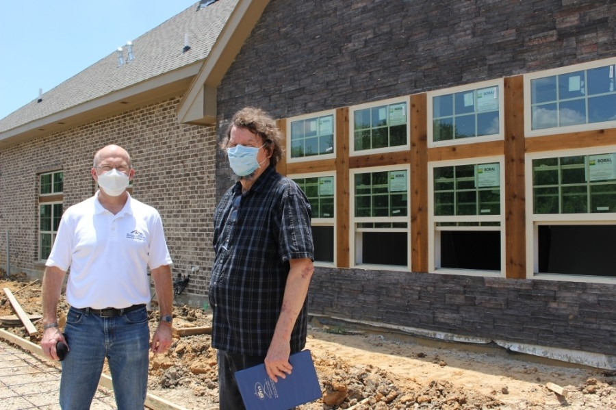 Godwin Dixon, left, and Fred Worley, right, are working to bring Teresa's House, a new senior living community, to McKinney. (Miranda Jaimes/Community Impact Newspaper)