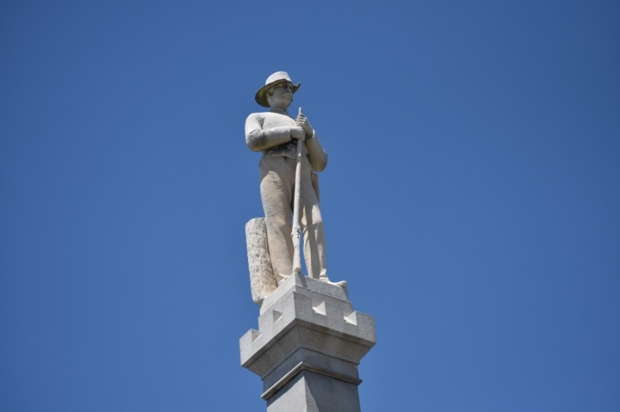 The African American Heritage Society released a statement July 14 calling for the addition of a marker in front of Chip, the Confederate monument in Franklin's Public Square, to explain the historic context of the statue. (Alex Hosey/Community Impact Newspaper)