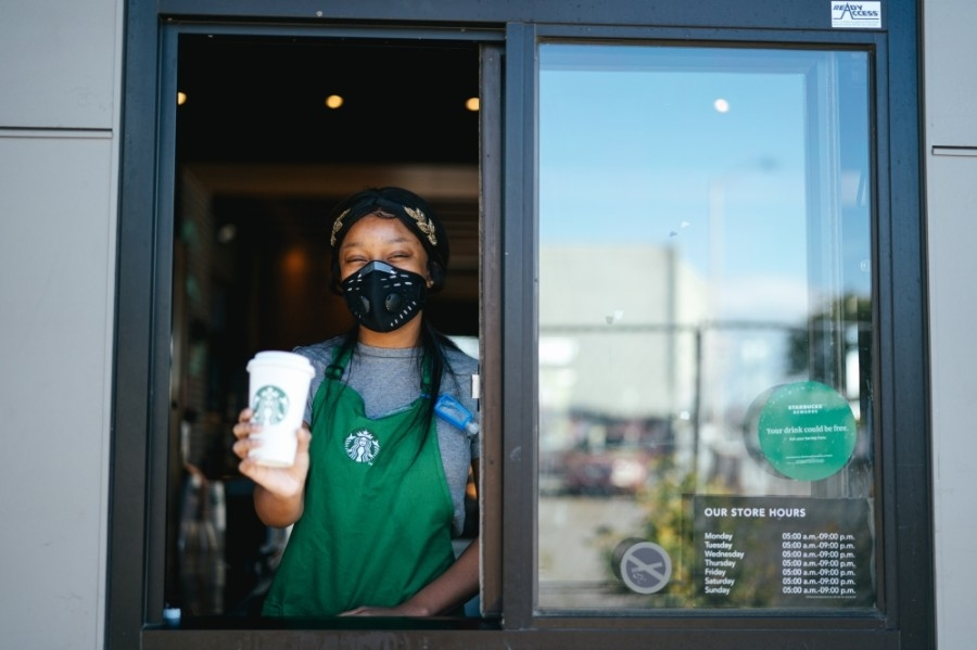 Starbucks is now open in Conroe's Grand Central Park Marketplace.