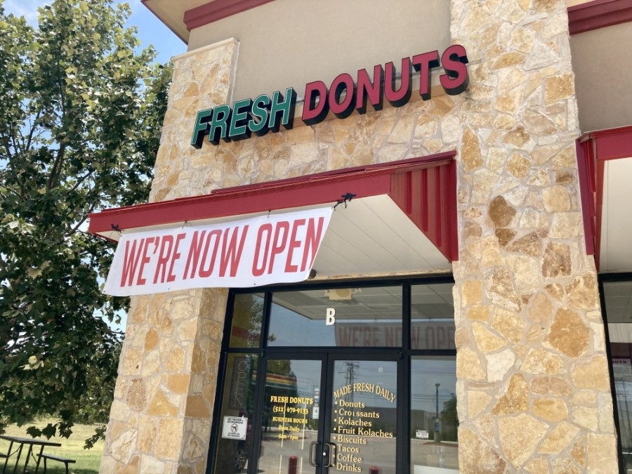 Fresh Donuts offers doughnuts, kolaches, biscuits, croissants and coffee. (Taylor Jackson Buchanan/Community Impact Newspaper)