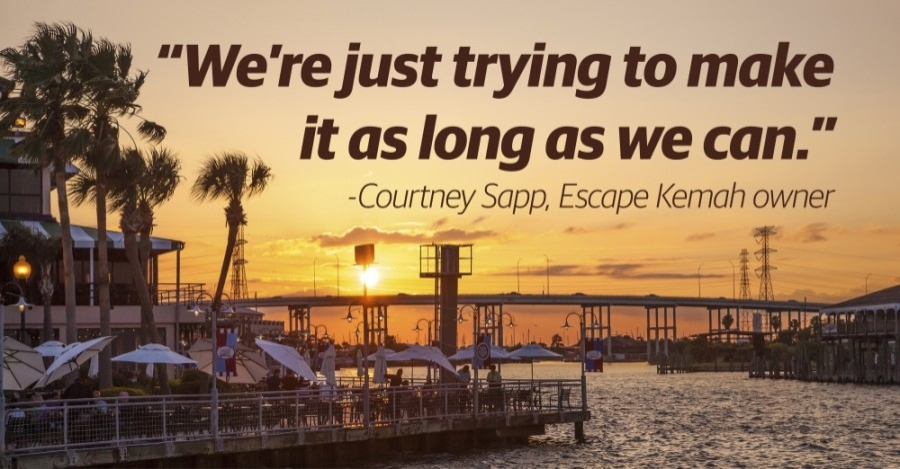 Business owners in Kemah are feeling the effects of the coronavirus pandemic as summer 2020 sales lag far behind previous years. (Graphic by Justin Howell/Community Impact Newspaper)