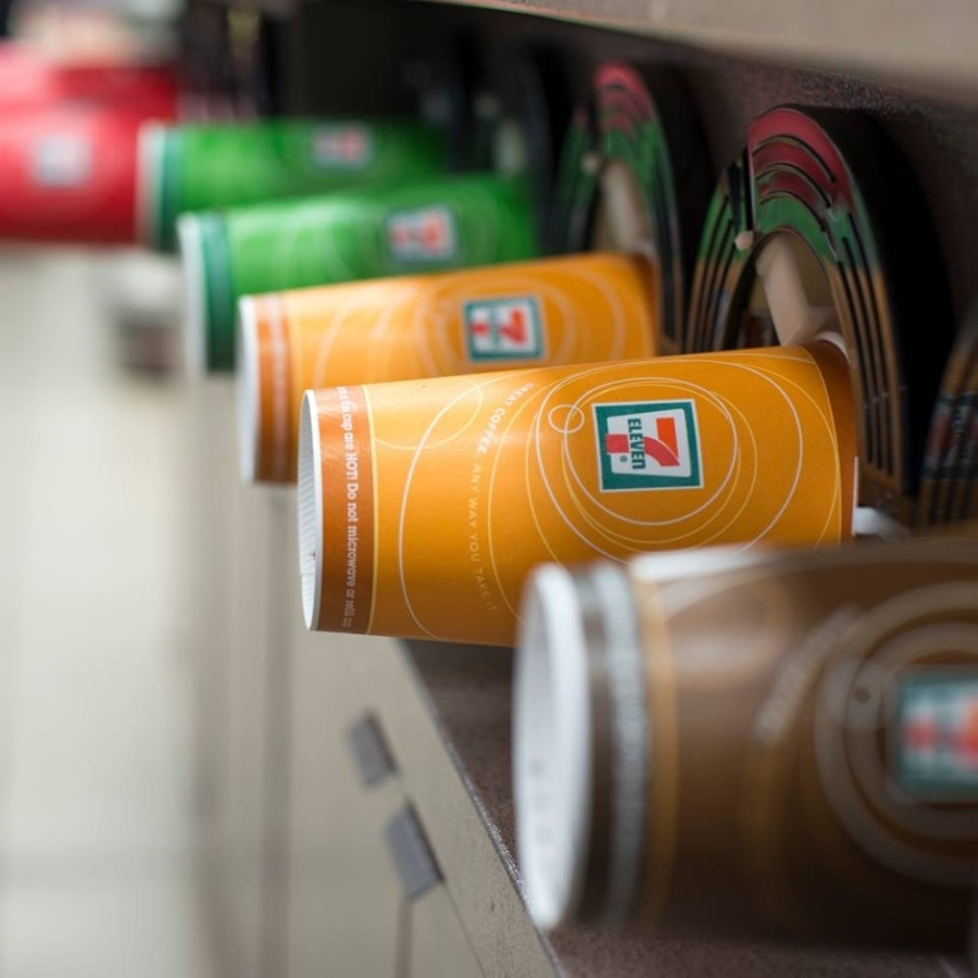 The Dallas-based convenience store chain is known for its Slurpees and self-serve soda fountains, which are available 24/7. (Courtesy 7-Eleven)