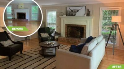 Ferguson said buyers are over 70% more likely to envision themselves in a home that is staged versus unstaged, and those who use home staging are 85% more likely to generate higher sales prices. (Courtesy Southern Yankee Staging & Design)
