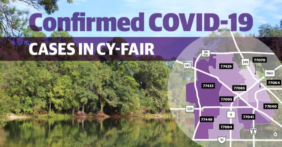 Harris County continues to report more confirmed cases of COVID-19 in the Cy-Fair area. (Community Impact Newspaper staff)