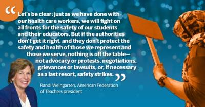 The resolution was passed by the AFT's 45-member executive council and announced by AFT President Randi Weingarten during the union's biennial convention July 28. (Graphic by Ronald Winters/Community Impact Newspaper)