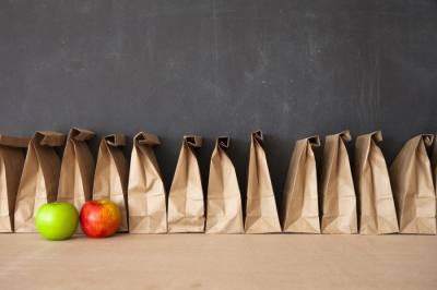 Brown bag school lunches