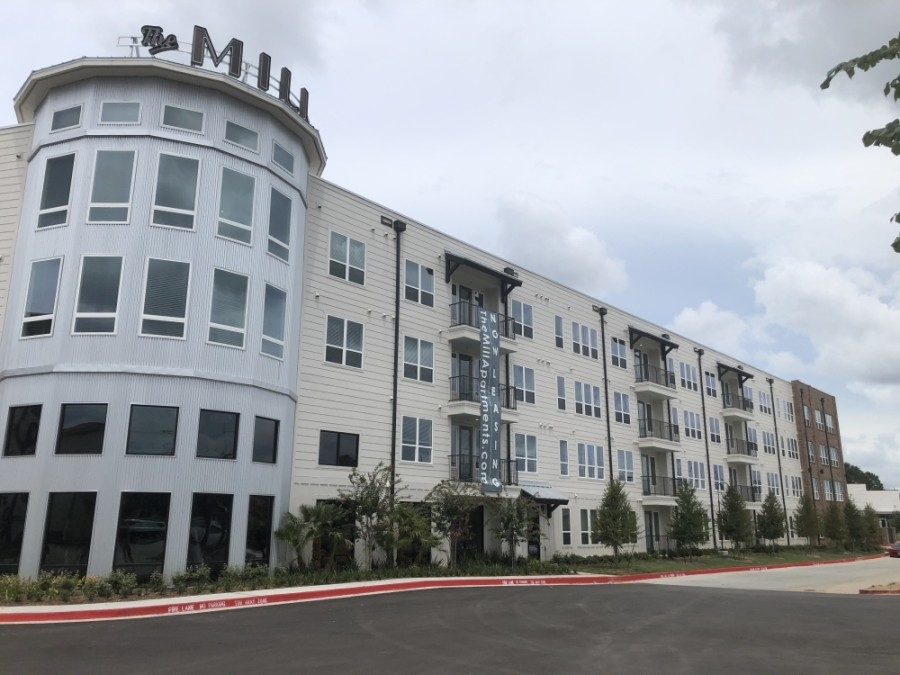 The Mill Apartment Complex opened in June. (Andrew Christman/Community Impact Newspaper)