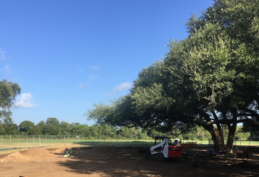 Crews clear land this summer to install a new playground at Circle C Metropolitan Park. (Courtesy city of Austin Parks and Recreation Department)