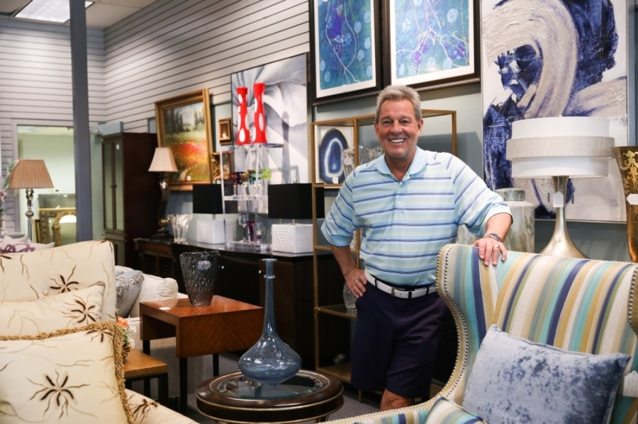 Todd Shevlin is the owner of The Consignerie, a store specializing in resale of top-end furniture, home decor and accessories. (Liesbeth Powers/Community Impact Newspaper)