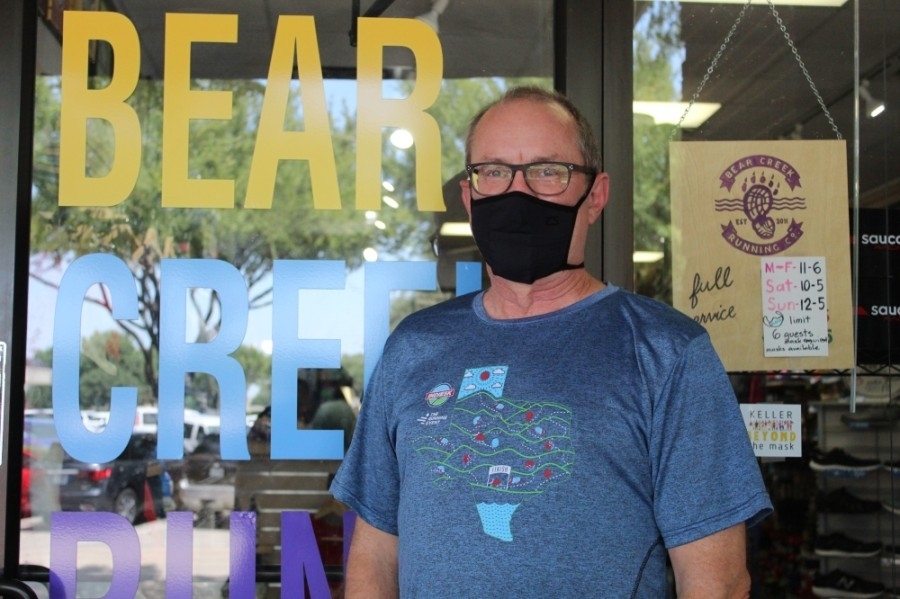 Owner Mark Murphy purchased Bear Creek Running Co. in Keller Town Center in 2017. (Ian Pribanic/Community Impact Newspaper)