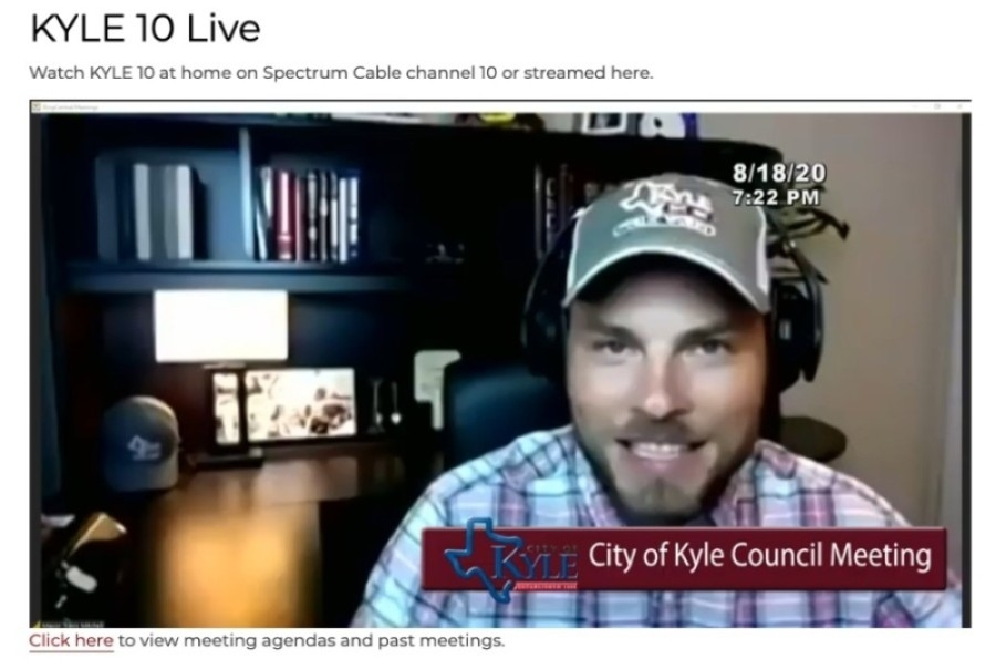 The action to rename Rebel Drive came during the Aug. 18 Kyle City Council meeting. (Screenshot courtesy city of Kyle)