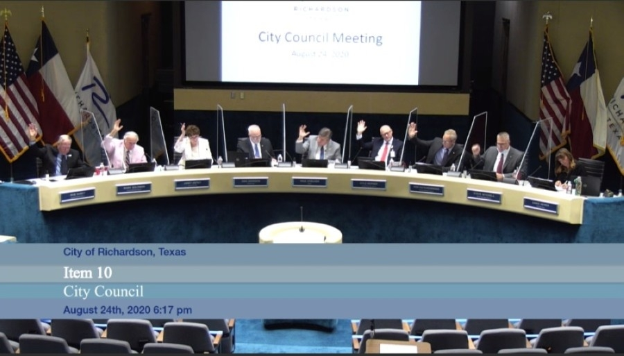 Richardson City Council voted to adopt the fiscal year 2020-21 budget at an Aug. 24 meeting. (Courtesy Citizen Information Television)