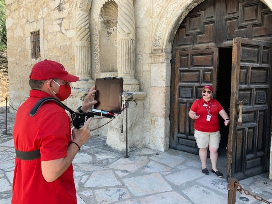 Staff members will lead virtual tours in real time at The Alamo. (Courtesy The Alamo)