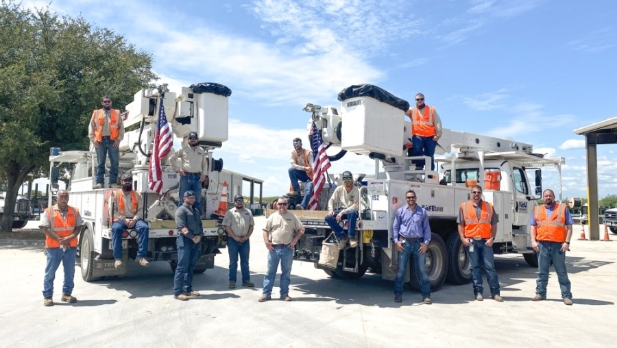 The crew will continue to serve the cities of Hemphill and Jasper. (Courtesy New Braunfels Utilities)