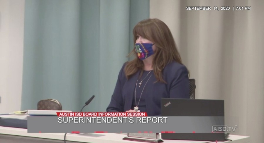 Austin ISD Superintendent Stephanie Elizalde said at a meeting Sept. 14 that she does not plan on submitting a waiver to the Texas Education Agency to request a delay of in-person learning. (Courtesy Austin ISD)