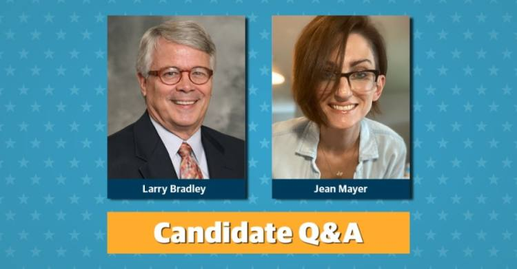 Larry Bradley and Jean Mayer are the two candidates running for Place 6 on the Pflugerville ISD board of trustees.
