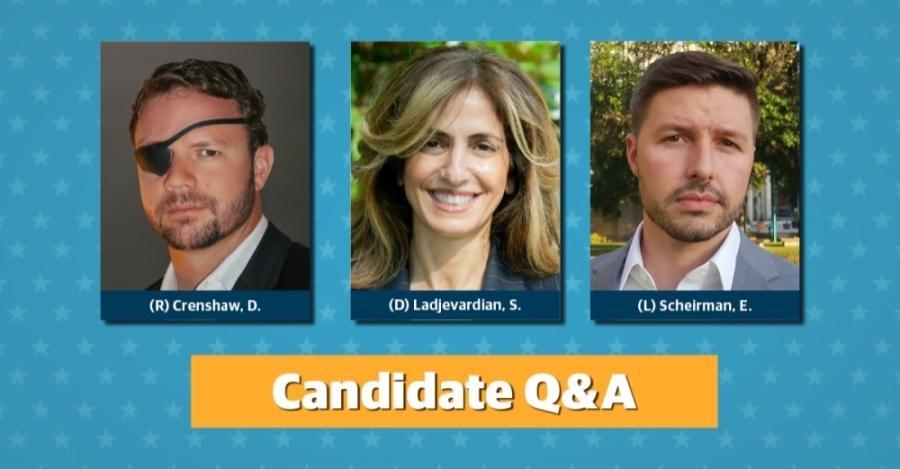 Three candidates are running to be elected the representative for U.S. House District 2. (Community Impact Newspaper staff)
