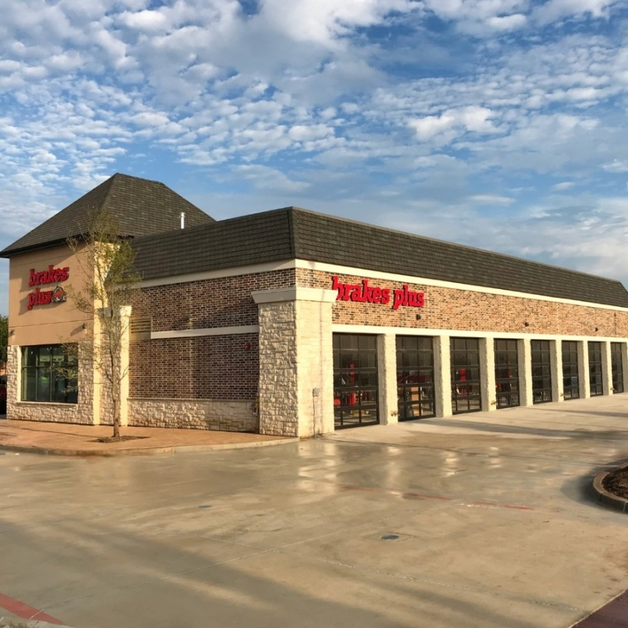 The car repair shop at the corner of Legacy Drive and Warren Parkway opened in early October. (Courtesy Brakes Plus)
