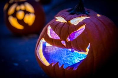 The Pumpkin Hollow drive-through event will include creepy characters, lights, fog and animatronics along the route. (Courtesy Town of Little Elm)