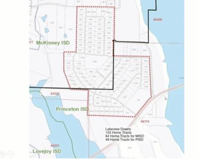 The black line bisecting the Lakeview Downs community shows which residences will be zoned for McKinney ISD and which will be zoned for Princeton ISD. (Courtesy McKinney ISD)