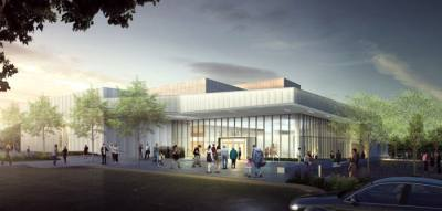 The Robinson Fine Arts Center is expected to open in the spring. (Courtesy Plano ISD)
