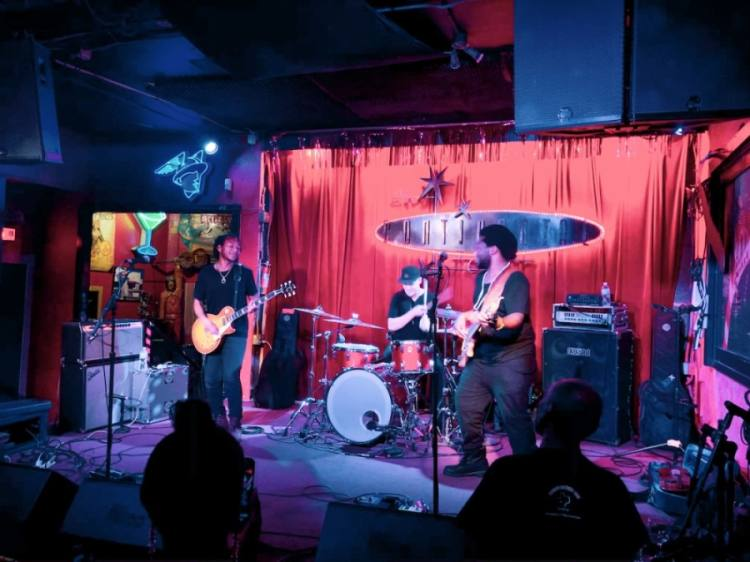 Local Austin act the Peterson Brothers perform at the historic Continental Club in 2019. (Christopher Neely/Community Impact Newspaper)