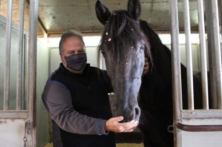 Eduardo Callegari founded Callegari Equestrian Center with his wife Candace in 1999. (Shawn Arrajj/Community Impact Newspaper)