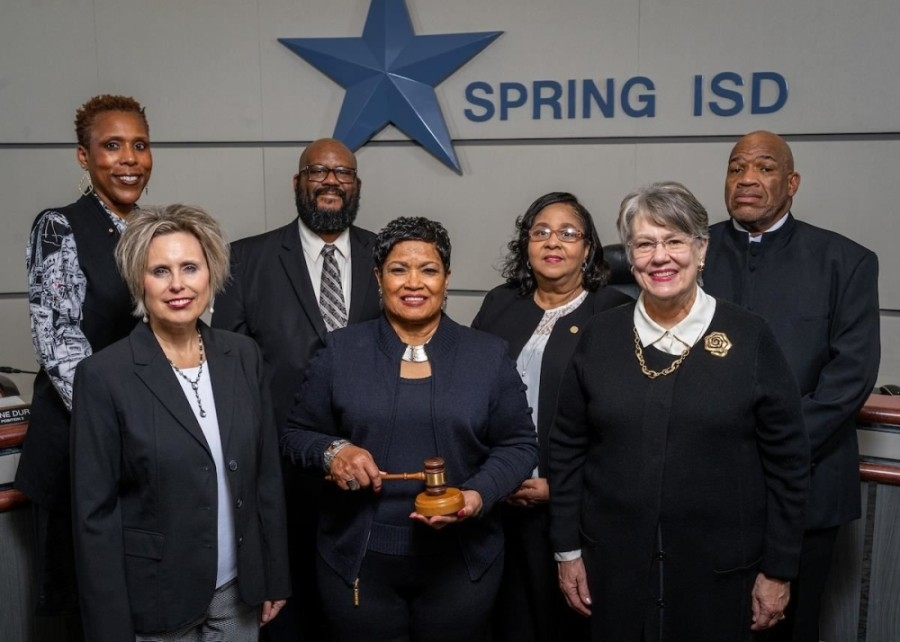 Donald Davis (top right) was first elected to the Spring ISD board of trustees in November 2015 and was re-elected in 2018. (Courtesy Spring ISD)