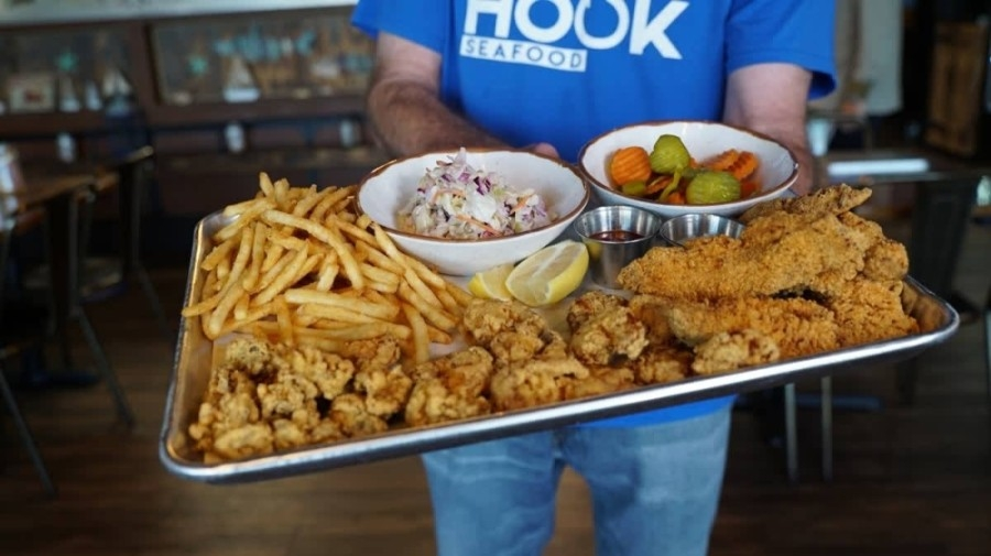 Off the Hook Seafood plans to hold its grand opening in the future, following a soft opening this summer. (Courtesy Off the Hook Seafood)