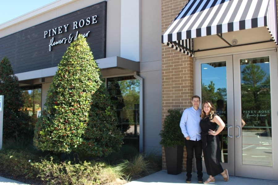 Piney Rose Floral is owned and operated by Taylor and Cullen Handfelt. (Andrew Christman/Community Impact Newspaper)