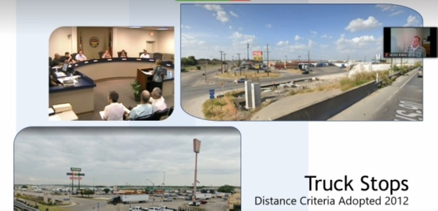 New Braunfels officials approved a proposed modification to the city's truck-stop regulations Dec. 14. (Screenshot courtesy city of New Braunfels)