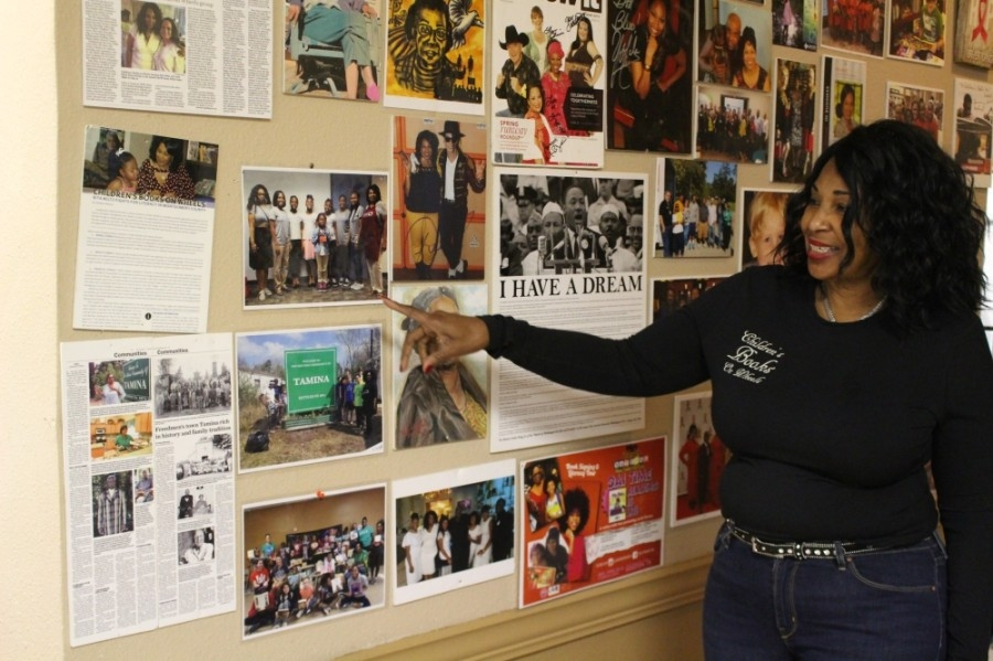 Rita Wiltz said the CBOW hall of fame includes influential members and families that have helped. (Andrew Christman/Community Impact Newspaper)