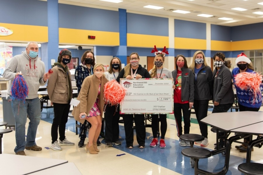 Peterson Elementary was given $2,600 to purchase supplies to start a program that combines cardio with drumming. (Courtesy Northwest ISD)