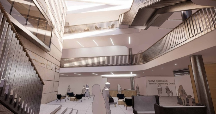 A groundbreaking date has been announced for a renovation and expansion project of the Evelyn Rubenstein Jewish Community Center. (Courtesy Evelyn Rubenstein Jewish Community Center)