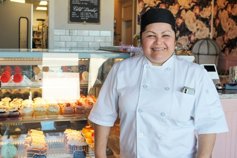 Letty Martinez owns both Yummy Tummy Bakery locations in Humble and New Caney. (Andy Li/Community Impact Newspaper)