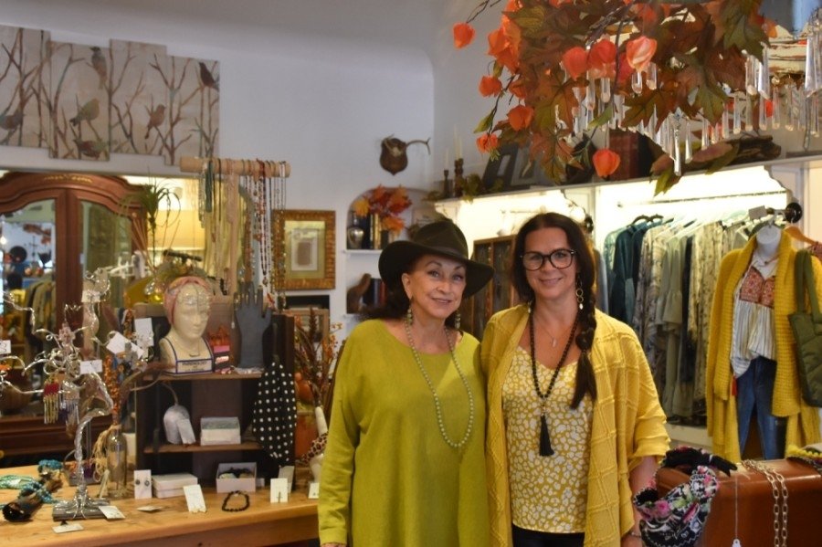 From left: Queenie Feige-Hider and her daughter, Nichole Fiorentino, bought the store in 2019. (Makenzie Plusnick/Community Impact Newspaper)