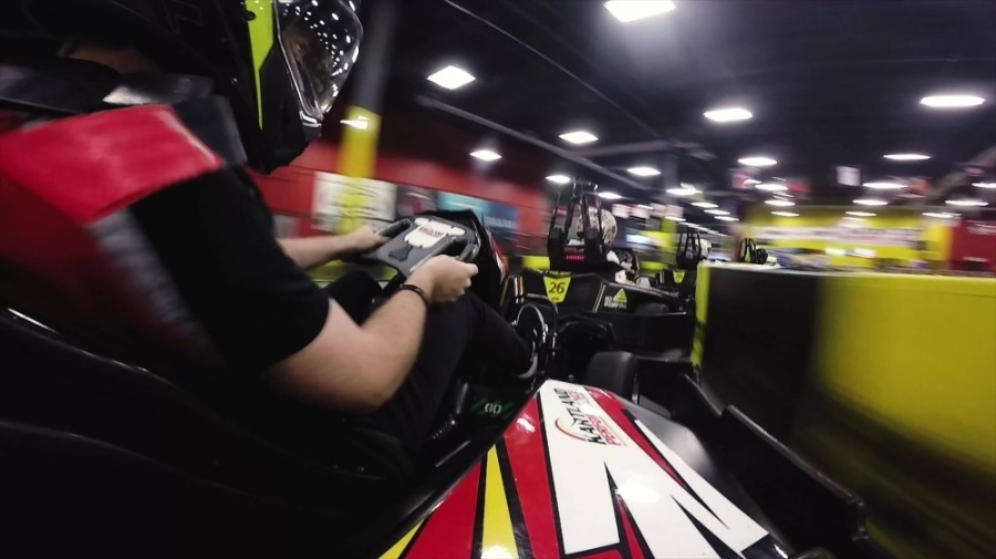 Go-karts at Kartland can reach a speed of up to 45 miles per hour. (Courtesy Kartland Indoor Performance Raceway)