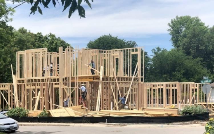Austin house under construction