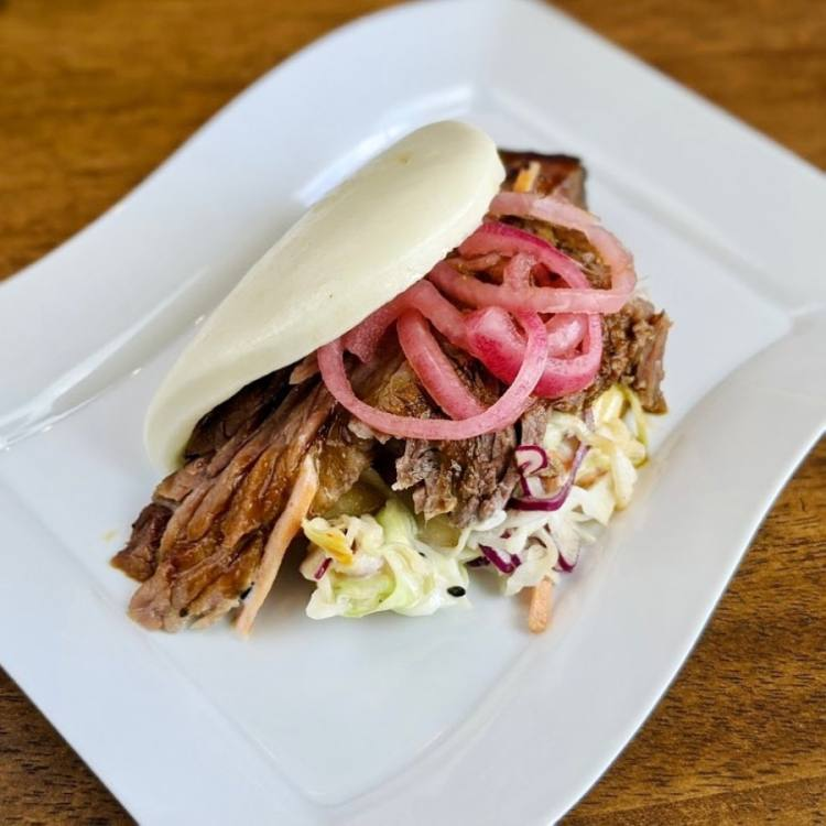 Bao Bros. Bistro opened on Hwy. 6 in October, offering steamed bao buns, boba tea and beer. (Courtesy Bao Bros. Bistro)