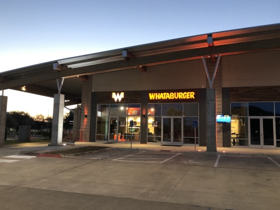 Photo of the exterior of a Whataburger restaurant