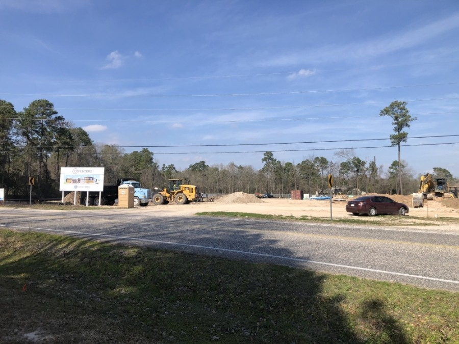 The gun range on Robinson Road is anticipated to be around 20,000 square feet. (Andrew Christman/Community Impact Newspaper)