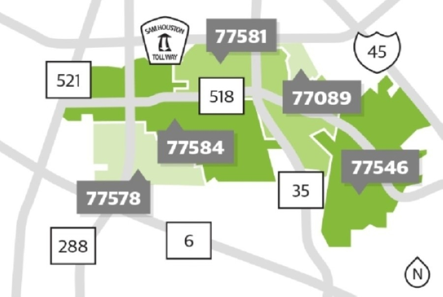 There are five ZIP codes local to the Pearland-Friendswood area. (Community Impact staff)