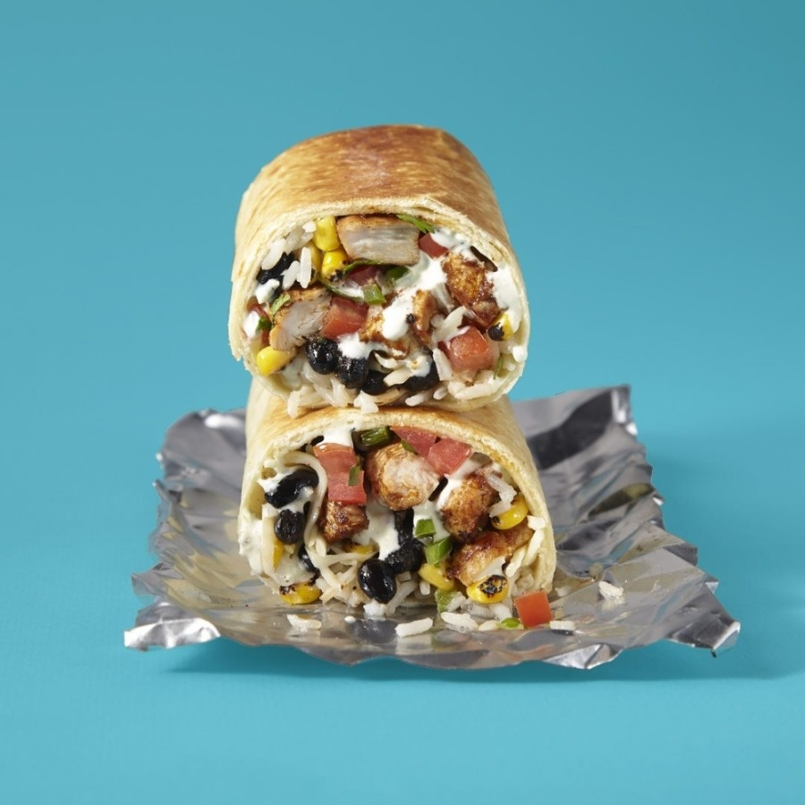 """Known as a """"ghost kitchen""""—a delivery-only concept that partners with and operates out of another restaurant's kitchen—Savage Burrito's menu differs from Uncle Julio's, featuring burritos, burrito bowls and salads. (Courtesy Savage Burrito)"""